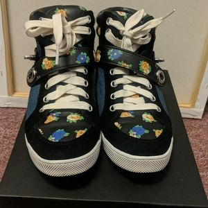Coach Jeans Sneakers with Rosette Detailing